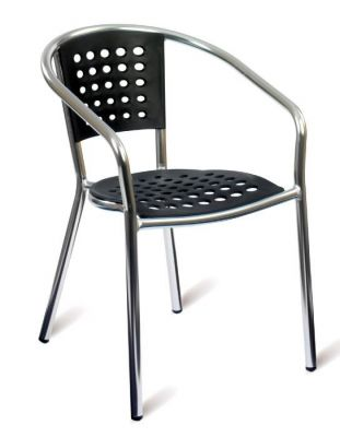 Outdoor-Aluminium-Armchair-with-Black-Polypropelene-Back-and-Seat-compressor