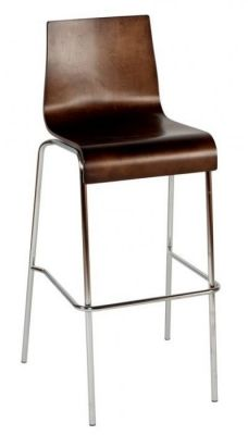Contract-Bar-Stool-with-Wenge-Finish-or-Beech-Seat-Chrome-Legs