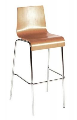 Commercial-High-Stool-with-Wenge-or-Beech-Wood-Seat-Chrome-Frame