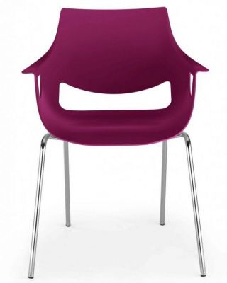 Designer-Polypropelene-Chair-with-Chrome-Legs-Colour-Shell