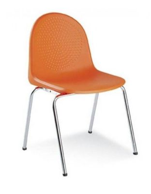 Multi-Use-Plastic-Poly-Chair-Chrome-or-Silver-Legs