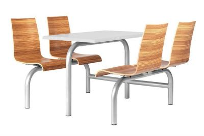 Stylish-Zebrano-Fast-Food-Canteen-Seating
