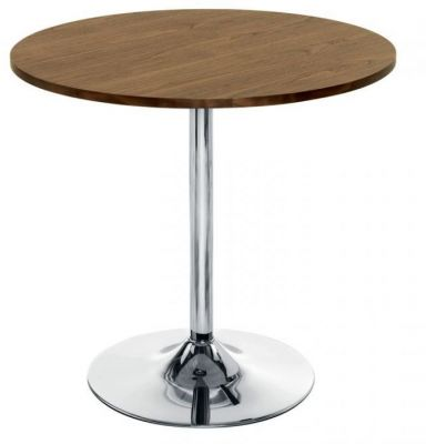 Complete-Cafe-Table-with-Round-Walnut-Top-and-Chrome-Base