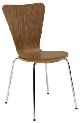 Classic-Keeler-Design-Cafe-Chair-in-Walnut-Chrome-Legs