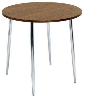 Full-Cafe-Table-Four-Leg-Chrome-Walnut-Top