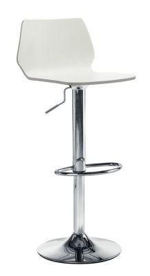 Modern-Bar-Stool-White-High-Gloss-Seat-and-Trumped-Chrome-Base