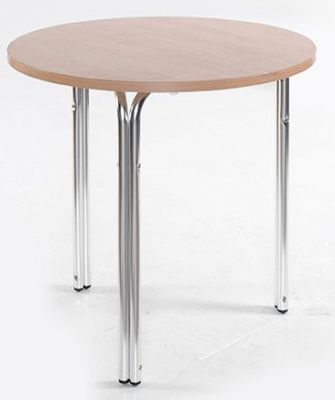 Next Day Delivery Cafe Table Round Three Chrome Legs