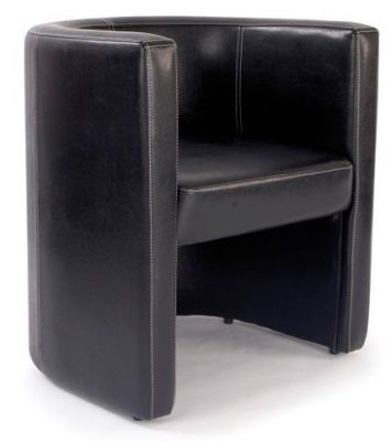 Leather-Face-High-Back-Tub-Chair-Brown-Faux-Leather