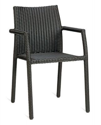 Mocha-Colour-Brown-Outdoor-Use-Weave-Armchair
