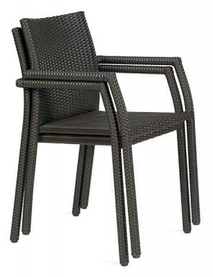 Stacking-Mocha-Colour-Weave-Chair