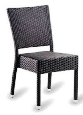 High Back Weave Chair In Dark Brown
