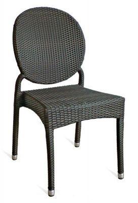 Outdoor-Mocha-Brown-Aluminium-Weave-Chair-Circular-Back