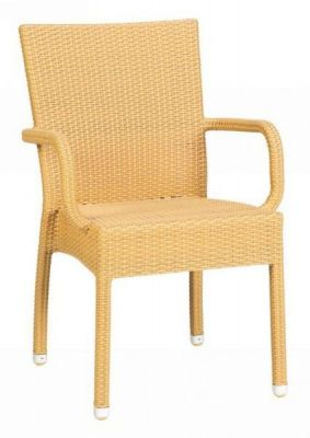 Beige-Finish-All-Over-Weave-Armchair-Outdoor
