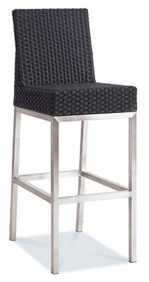 High Stool With Weave Seat And Back-min