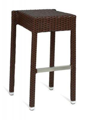 Stacking-Black-Weave-Aluminium-Frame-High-Stool