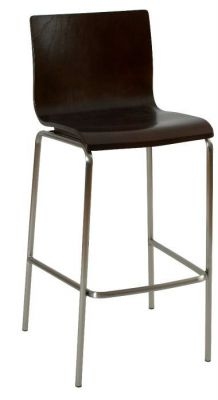 Wenge-Classic-Design-Bar-Stool-Black-Frame