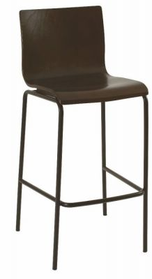 Wenge-Classic-Design-Bar-Stool-with-Silver-Frame