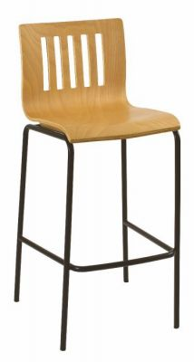 Classic-Beech-Bar-Stool-with-Black-Metal-Frame