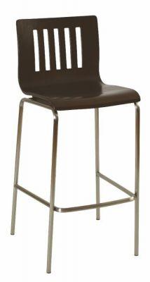 Popular-Bar-Stool-Wenge-Finish-Seat-Silver-Frame