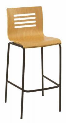 Modern-Beech-Seat-Bar-Stool-with-Black-Frame