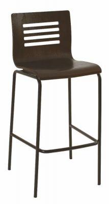 Stylish-Wenge-Seat-Finish-Bar-Stool-with-Black-Finish-Metal-Frame