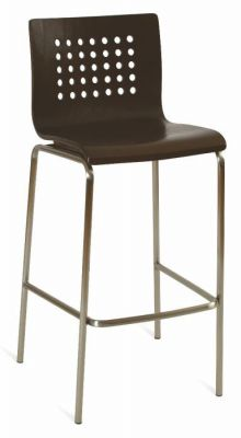 Commercial-Bar-Stool-with-Wenge-Seat-and-Silver-Frame