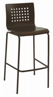 Wenge-Seat-Bar-Stool-with-Black-Frame