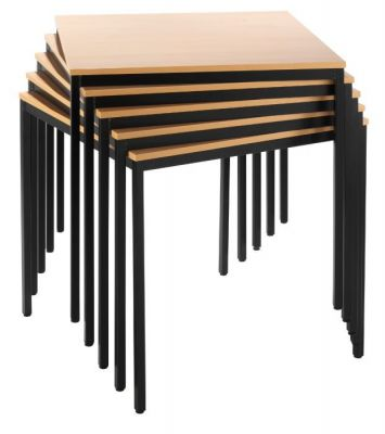 Fully-Welded-Canteen-Table-with-Wood-Top-Finish
