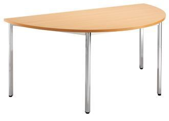 Half-Moon-Professional-Canteen-Table-Wood-Finish-Top-Chrome-Frame