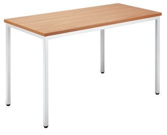 Rectangular-Contract-Grade-Canteen-Style-Multipurpose-Table-Wood-Finish