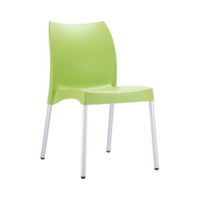 Green-Poly-Chair-with-Silver-Legs