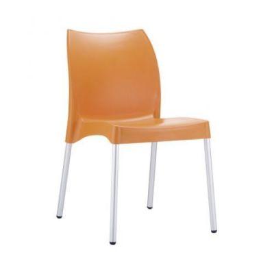 Orange-Poly-Chair-Aluminium-Legs