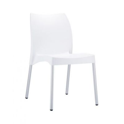 White-Polypropelene-Chair-with-Moulded-Seat-and-Aluminium-Legs