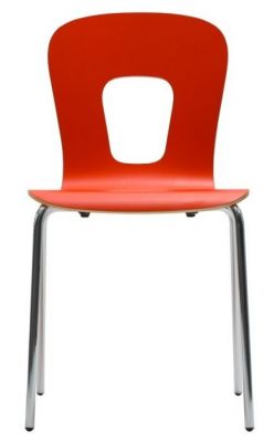 High-Pressure-Laminate-Bright-Chair-in-Red-Chrome-Legs