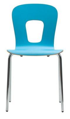 Contemporary-Light-Blue-Chair-High-Pressure-Laminate-Plastic-Chrome-Frame
