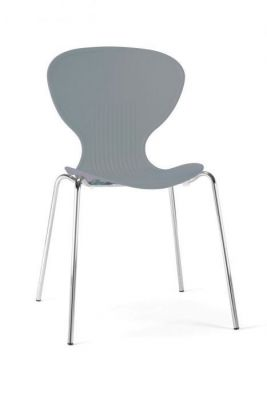 Colour Multipurpose Poly Chair Chrome Legs