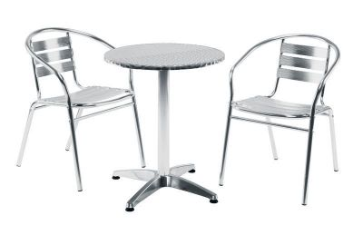 Outdoor Aluminium Chair And Table Set