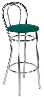 Chrome Frame Bar Stool Upholstered Leather Colour Seat