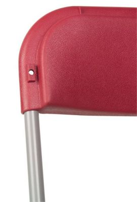 Red Value Plastic Folding Metal Frame Chaire