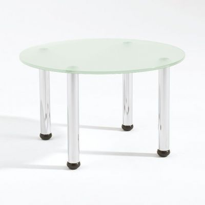 Glass Coffee Table From Teh Radius Range Cafe Reality - Round glass coffee table with chrome legs