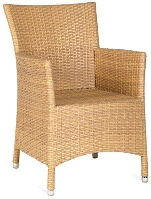 Natural Finish Outdoor Rattan Armchair