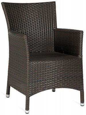 Rattan Finish Armchair Dark Brown Outdoor