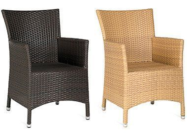 Brown And Natural Outdoor Rattan Armchair