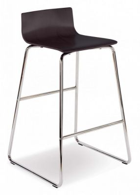 Modern Designer Stool With Chrome Sled Frame And Designer Slim Seat