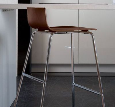 Ultra Modern Sleek BarStool Chrome Sled Base