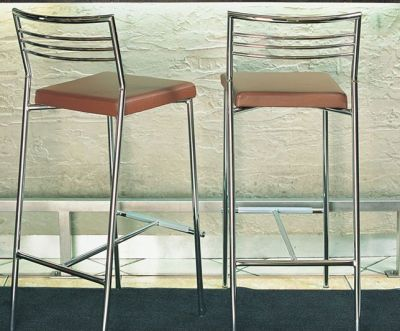 Ultra Modern Bar Stool With Chrome Wire Back