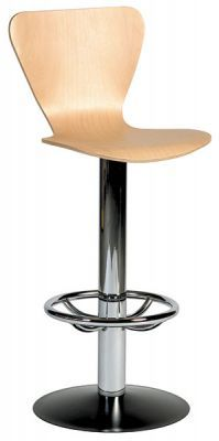 Swivel Barstool With Keeler Wood Finish Seat