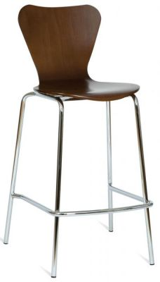 Natural Or Wenge Wood Finish Keeler Stacking Barstool