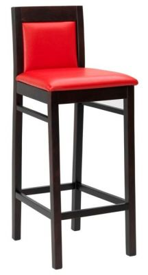 Upholstered Seat And Back Wood Finish Barstool