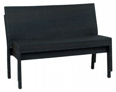 Stacking Two Seat Outdoor Java Weave Bench